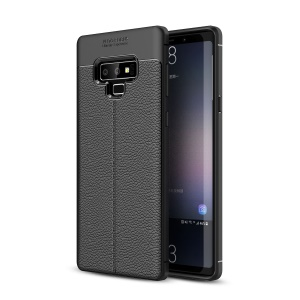 Litchi Texture Soft TPU Mobile Phone Case for Samsung Galaxy Note 9 - Black