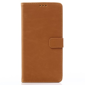 Crazy Horse Texture Retro Style Leather Wallet Cell Phone Cover for Samsung Galaxy A8 Star / A9 Star (China) - Brown