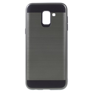 Brushed PC and TPU Combo Protector Phone Cover for Samsung Galaxy J6 (2018) - Army Green