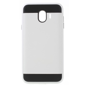 Brushed PC and TPU Hybrid Phone Cover for Samsung Galaxy J4 (2018) - White