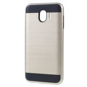 Brushed PC and TPU Combo Cellphone Cover for Samsung Galaxy J4 (2018) - Gold