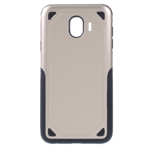 Rugged Armor PC + TPU Combo Phone Cover Casing for Samsung Galaxy J4 (2018) - Gold