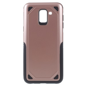 Rugged Armor Plastic + TPU Combo Protection Mobile Case for Samsung Galaxy J6 (2018) - Rose Gold