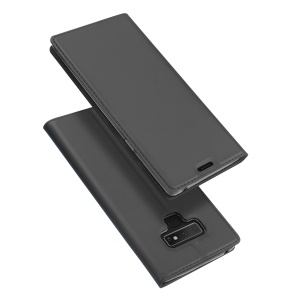 DUX DUCIS Skin Pro Series Flip Leather Stand Mobile Case for Samsung Galaxy Note 9 - Dark Grey
