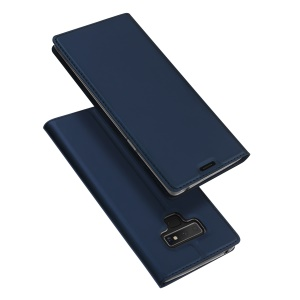 DUX DUCIS Skin Pro Series Flip Leather Stand Protector Cover for Samsung Galaxy Note 9 - Dark Blue