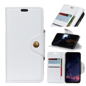 Crazy Horse PU Leather Wallet Stand Mobile Cover for Samsung Galaxy Note 9 - White