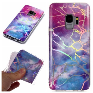 Marble Pattern Plated IMD TPU Mobile Phone Casing for Samsung Galaxy S9 G960 - Multi-color