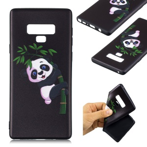 Embossment Soft TPU Phone Shell for Samsung Galaxy Note 9 - Panda on Bamboo