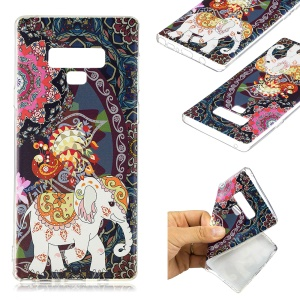 Pattern Printing Soft TPU Protective Case for Samsung Galaxy Note 9 - Lovely Elephant