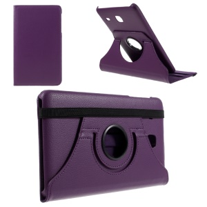 Rotary Stand Leather Flip Case for Samsung Galaxy Tab E 8.0 T377 - Purple