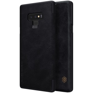 NILLKIN Qin Series PU Leather Card Holder Phone Case for Samsung Galaxy Note 9 - Black