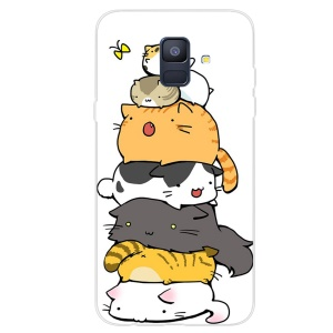 Pattern Printing TPU Mobile Phone Cover for Samsung Galaxy A6 (2018) - Lovely Cats