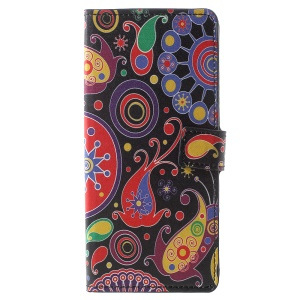 Pattern Printing Wallet Leather Stand Shell Case with Card Holder for Samsung Galaxy Note 9 - Paisley Flower