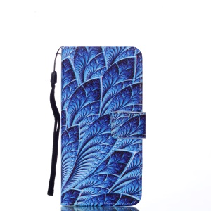 Pattern Printing Wallet Leather Mobile Phone Case for Samsung Galaxy A6 (2018) - Colorized Pattern