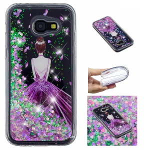 Patterned Dynamic Glitter Powder Sequins TPU Phone Cover for Samsung Galaxy A5 (2017) A520 - Pretty Girl's Back