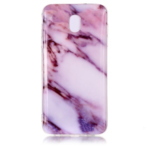 IMD Patterned TPU Featherweight Case for Samsung Galaxy J7 (2018) - Rose Marble