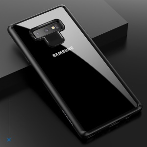USAMS Mant Series Clear PC + TPU Frame Phone Case for Samsung Galaxy Note 9 - Black