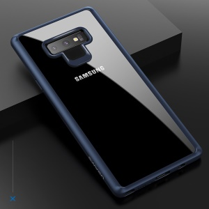 USAMS Mant Serie Klar PC + TPU Rahmen Handy Shell Für Samsung Galaxy Note 9 - Blau