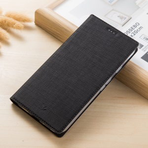VILI DMX for Samsung Galaxy J4 (2018) Cross Texture Stand Leather Mobile Phone Case - Black