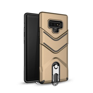 TPU + PC Hybrid Cover Shell Case with Kickstand for Samsung Galaxy Note 9 - Gold