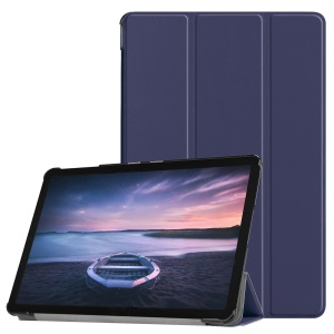 Tri-fold Stand PU Leather Smart Cover Accessory for Samsung Galaxy Tab S4 10.5 T830/T835 - Dark Blue