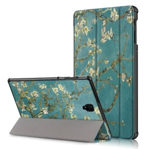 Pattern Printing Tri-fold Stand Leather Protective Table Case for Samsung Galaxy Tab S4 10.5 (SM-T380/T835/T837) - Wintersweet
