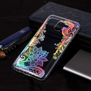 Colorful Laser Carving IMD Patterned TPU Mobile Phone Shell for Samsung Galaxy J6 (2018) - Laser Flower