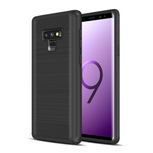 Drop-proof Brushed PC + TPU Phone Cover for Samsung Galaxy Note 9 - Black