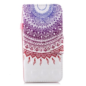 Patterned Light Spot Decor Wallet Stand Leather Cell Phone Cover for Samsung Galaxy J6 (2018) - Mandala Flower
