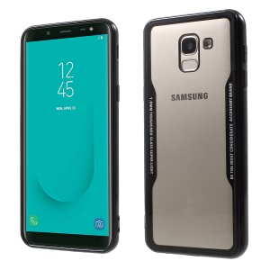 TPU Edge + Clear Acrylic Back Combo Case for Samsung Galaxy J6 (2018) - Black