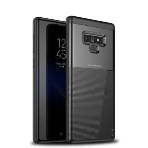 IPAKY Grid Pattern PC + TPU Hybrid Case for Samsung Galaxy Note 9 - Black