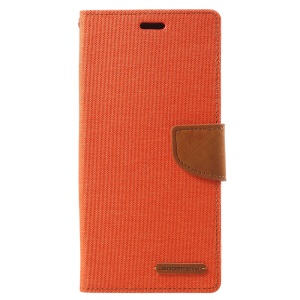 MERCURY GOOSPERY Canvas Diary Leather Stand Phone Case Samsung Galaxy Note9 N960 - Orange