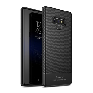 IPAKY Carbon Fiber Series TPU Protection Shell for Samsung Galaxy Note9 N960 - Black