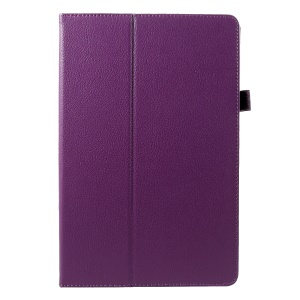 PU Leather Protective Shell Case with Stand for Samsung Galaxy Tab S4 10.5 T830/T835 - Purple