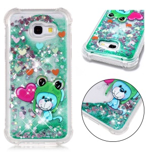 Animal Series Glitter Powder Quicksand Shockproof TPU Mobile Phone Case for Samsung Galaxy A5 (2017) A520 - Mouse Wearing Hat