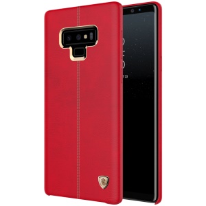 NILLKIN Englon Leather Coated Hard Plastic Case Accessory for Samsung Galaxy Note9 N960 - Red