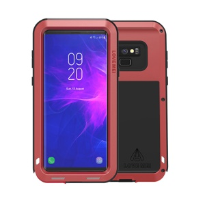 LOVE MEI Shockproof Dropproof Dustproof Case Cover for Samsung Galaxy Note9 SM-N960 - Red