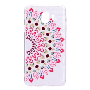 Pattern Printing 3D Diamond Surface TPU Case for Samsung Galaxy J4 (2018) - Colorized Flower