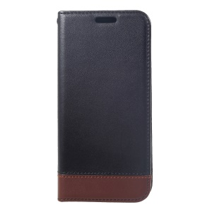 Two-tone [Card Holder Stand] Split Leather Cover for Samsung Galaxy S8 SM-G950 - Black