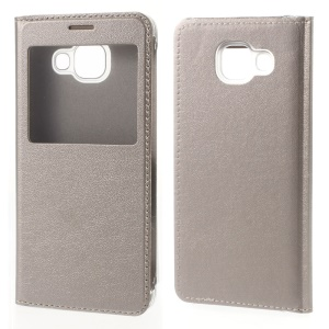 View Window Leather Case Protector for Samsung Galaxy A3 SM-A310F (2016) - Gold