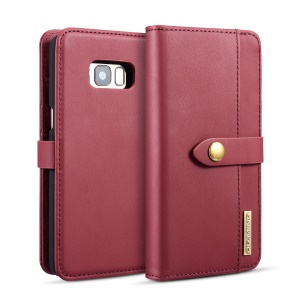 DG.MING for Samsung Galaxy S8 Plus SM-G955 Detachable 2 in 1 Split Leather Wallet Mobile Case - Red
