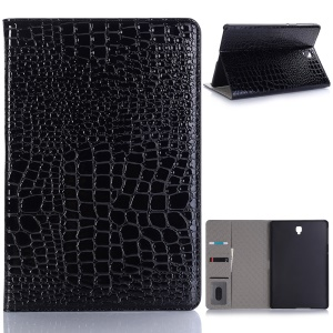 Crocodile Texture PU Leather Auto-wake/sleep Wallet Tablet Shell for Samsung Galaxy Tab S4 10.5 - Black
