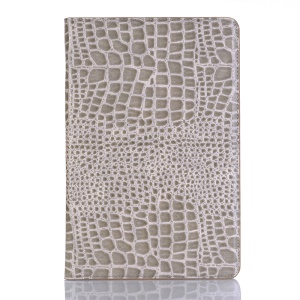 Crocodile Texture PU Leather Auto-wake/sleep Wallet Tablet Cover with Card Slots for Samsung Galaxy Tab S4 10.5 - Beige