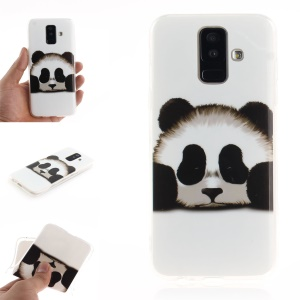 For Samsung Galaxy A6+ (2018) / A9 Star Lite Patterned IMD Flexible TPU Phone Cover - Lovely Panda