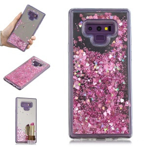 Glitter Floating Quicksand Mirror Surface TPU Cover for Samsung Galaxy Note9 N960 - Pink