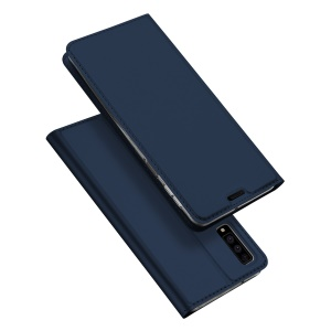 DUX DUCIS Skin Pro Series [Card Slot Stand] Leather Case Cover for Samsung Galaxy A7 (2018) - Dark Blue