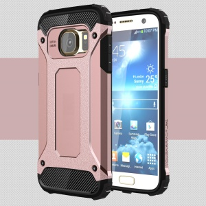 For Samsung Galaxy S7 G930 Cool Armor PC + TPU Cover Case - Rose Gold