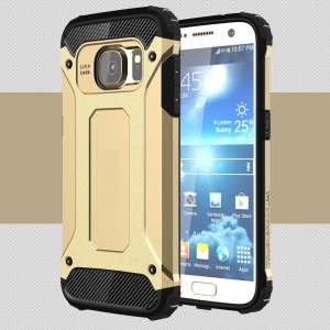 Cool Armor PC + TPU Case Accessory for Samsung Galaxy S7 G930 - Gold