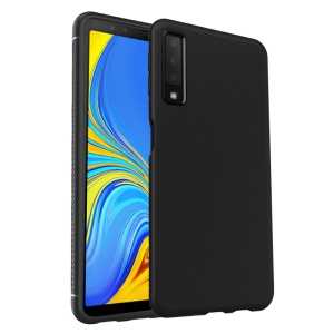 LENUO Twill Texture TPU Case for Samsung Galaxy A7 (2018) - Black