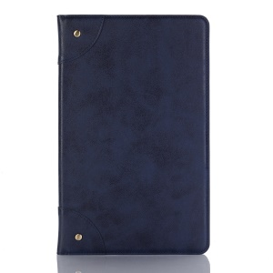 Retro Book Style Stand Leather Smart Shell for Samsung Galaxy Tab A 10.5 (2018) T590 T595 - Dark Blue